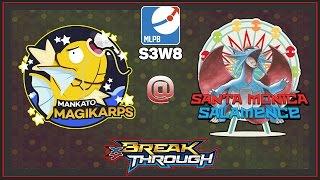 Pokemon TCG - MLPB S3W8 MANKATO MAGIKARP VS SANTA MONICA SALAMENCE by Papa Blastoise