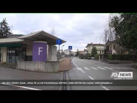 30/03/2020 | ZAIA: «MULTE A CHI PASSEGGIA ENTRO I 200 METRI DA CASA? IMPUGNABILI»