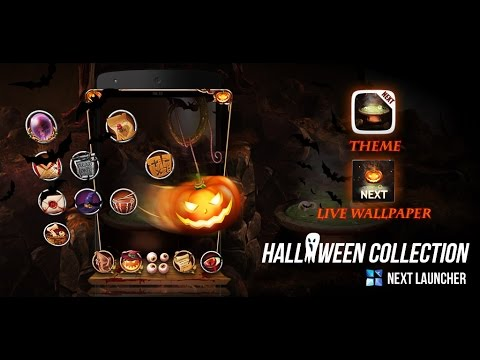 Video of Next Launcher Theme Halloween