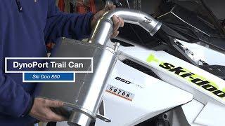 10. Ski Doo 850 DynoPort Silencer compared to Stock Freeride Muffler