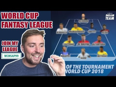 WORLD CUP FANTASY FOOTBALL 2018! JOIN MY LEAGUE!