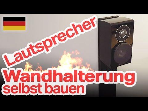 Lautsprecher Wandhalterung fürs Heimkino selber bauen (DIY, German/Deutsch)