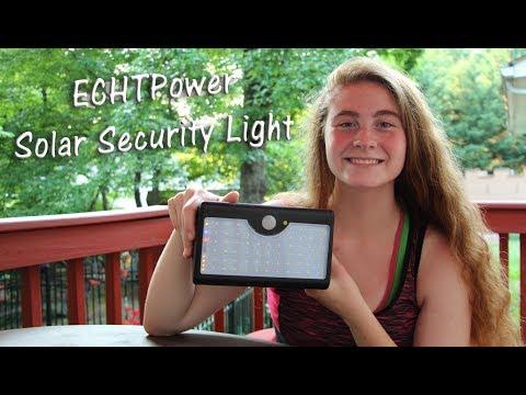 💥ECHTPower  60 LED Solar Security Lights 👀 MOTION SENSOR OUTDOOR LIGHT REVIEW 👉