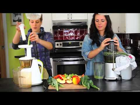 Juicers – Hurom Slow Juicer vs. Breville Centrifugal Juicer – Juicing demo