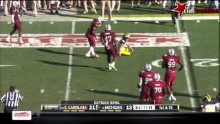 Jadeveon Clowney vs Taylor Lewan (2012 Bowl)