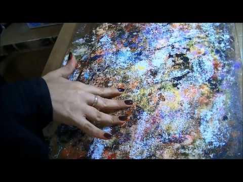 Fixando o Tecido para Pintura - how to paint