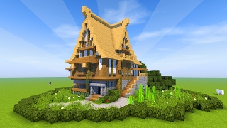 Minecraft Tutorial: How to build a BIG survival house ( Medieval Mansion ) 2017