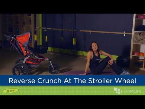 Reverse Crunch at the Stroller Wheel - Stroller Strides
