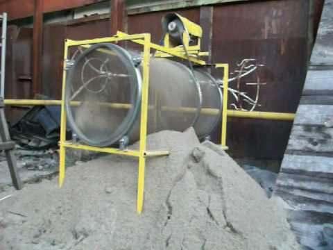 Из чего сделать сито для песка