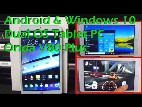 Dual OS Android & Windows 10 Tablet PC - ONDA V80 PLUS