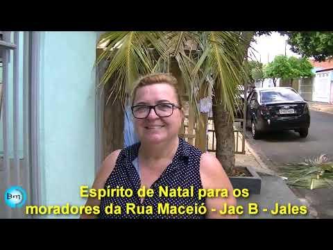 Jales - Espírito de Natal para os moradores da Rua Maceió no JAC B.