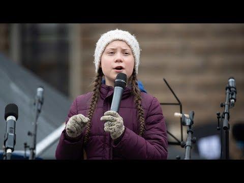Hamburger Schüler demonstrieren mit Greta Thunberg
