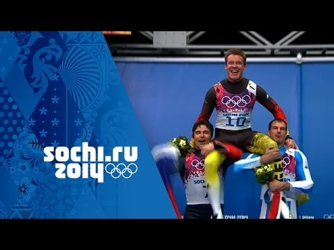 Men's Luge - Runs 3 and 4 - Felix Loch Wins Gold  | Sochi 2014 Winter Olympics