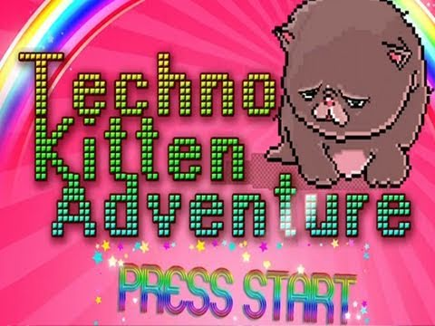 Techno Kitten Adventure: AMAZING Indie Game w/Nova Video
