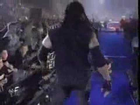 mankind - 12.6.1998, WWF PPV Capital Carnage, London. Fatal Four-Way, no DQ match, not for the title. Gerald Brisco as the Special guest referee.