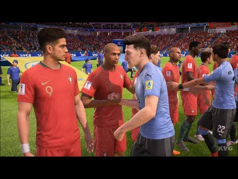 2018 FIFA World Cup Russia - Uruguay Vs Portugal - Gameplay (HD) [1080p60FPS]