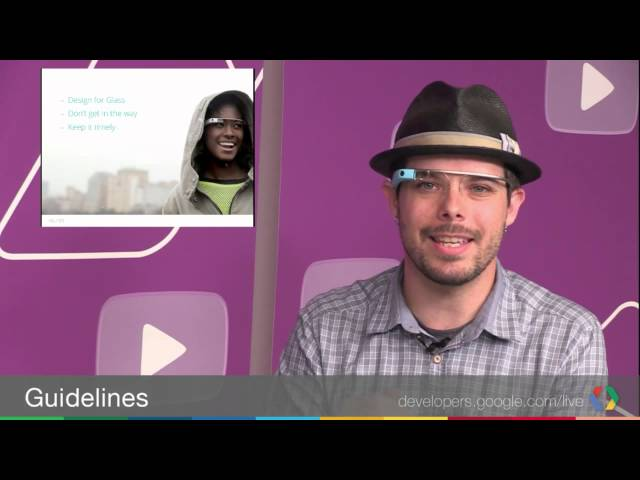 Google Mirror API: Guidelines