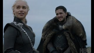Emilia Clarke, Kit Harington and Iain Glen  Subtitulado  Game Of Thrones: 7x05 (interview)