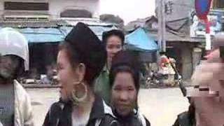Black Hmong People in Market Near Sapa