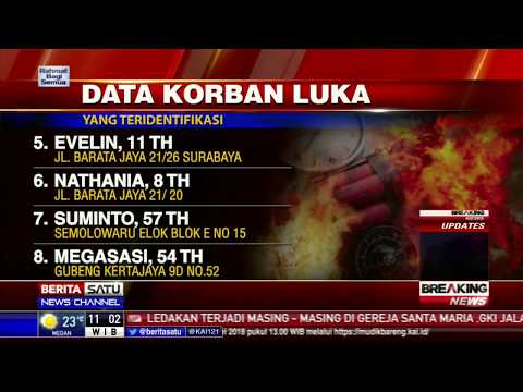 12 Nama Korban Luka Ledakan Gereja di Surabaya
