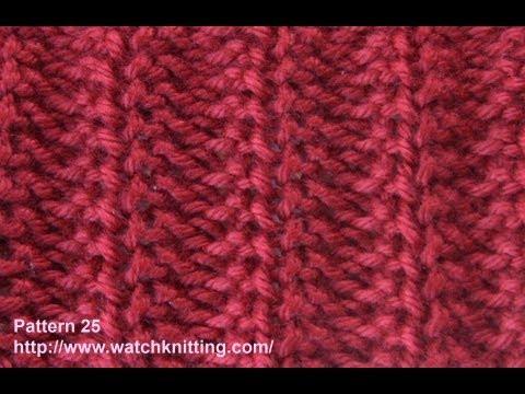 Croatia Knitting Patterns : Jerseys stitch- Free Knitting Tutorials - Watch Knitting - pattern 25
