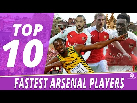 Top 10 Fastest Arsenal Players
