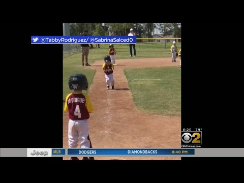 3 Year Old Makes Comedic Home Run In Slow Motion