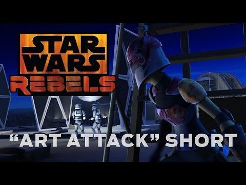 "Онлайн видео star wars rebels ""art attack"" short"