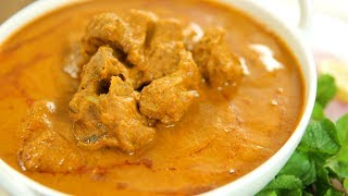 Learn How To Make Gosht Ka Salan Recipe, a Hyderabadi Mutton Curry Recipe from Chef Varun Inamdar. Make this delicious Mutton Recipe in a simple, quick and easy method, at your home and share your experience with us in the comments below.Ingredients:-½ Kg. Mutton 200 gms. Onion, sliced2 tbsp. Oil2 tbsp. Ghee2 Bay leaves2 Black cardamom1 tsp. Cumin seeds200 gms. Curd1.5 tbsp. Ginger-Garlic paste1 Tomato1 tbsp. Garam masala powder1 tbsp. Coriander powder2 tbsp. Red chilli powder¼ tbsp. Turmeric powderSaltWater as required 2 tbsp. Coriander leaves2 tbsp. Mint leavesMethod:-- In a pan heat oil and saute the onions by adding salt until golden brown in colour. Keep aside and let it cool down to room temperature.- Grind the onions, ginger-garlic, curd, tomatoes, red chilli powder, coriander powder, cumin seeds, Garam Masala, turmeric powder, coriander leaves and mint leaves.- In the same pan, heat ghee and add black cardamom, bay leaves, mutton pieces, salt and stir fry the mutton until light brown in colour.- Now add the ground paste and water to the pan and stir.- Cover with a lid and cook for 20-30 minutes on low flame or in a pressure cooker for 4 whistles.Mutton Ka Salan is ready to eat with Naan or Pulao! HAPPY COOKING!!!Host: Varun InamdarDirector: Vaibhav DhandhaCamera: Kavaldeep Singh Jangwal, Pratik Gamre, Akshay Sawant, Spandan RoutEditing: Dinesh ShettyProducer: Rajjat A. BarjatyaCopyrights: Rajshri Entertainment Pvt LtdSubscribe and Get regular Updates: http://www.youtube.com/user/getcurried?sub_confirmation=1https://www.facebook.com/GetCurriedhttps://plus.google.com/+getcurriedhttps://twitter.com/Get_Curriedhttps://instagram.com/getcurried