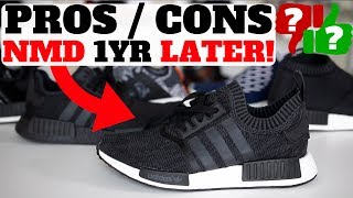 Buy Adidas NMD here:  http://bit.ly/2jOaQHl or trySG - http://bit.ly/2soDjw8 Buy adidas Ultra Boost here: http://bit.ly/2lhL7vKor try ebay! http://ebay.to/2rtVv6h or SG http://bit.ly/2qAKnEQWATCH HERE! TOP 5 SNEAKER VIDEOS http://bit.ly/2bBWsR5Shop best sneaker deals of the week here! http://bit.ly/2kuwqFv Shop Reshoevn8r Sneaker Cleaner & Products (use code HESKICKS for 10% off!) http://bit.ly/2g7eQBRSub To my son Heskicks Jr's Channel! http://bit.ly/2dtdykIShop My Favorite Sneaker Sites Here!Nikestore New Items: http://bit.ly/2jXegfhClearance http://bit.ly/2j18s06Adidas New Releases: http://bit.ly/2hZi9vyKicksUSA New Items http://bit.ly/293JMhLUBIQ New Items http://bit.ly/293JZS9Social Media for Heskickshttp://www.youtube.com/heskickshttp://www.twitter.com/heskickshttp://www.instagram.com/heskicksBusiness Contact email : heskicks@gmail.comShop Angelus Custom Paint for Sneaker http://bit.ly/2qY1qAKAbout Heskicks: Hes Kicks is a sneaker Youtuber that owns the sneaker blog site http://www.collectivekicks.com.  Heskicks reviews sneakers and posts sneaker related discussion videos. Heskicks has been collecting sneakers since 2003, and is an avid fan of anything sneaker related.Pricing $120-$180First Colorway dropped Dec 11th 2015 Show tweets from Timelinehttps://twitter.com/Heskicks/status/877984575619596288  NMD ProsComfortLego BlocksDesignLifestyleCollabscolorwaysstabilityMore options to buy now, many pairs sittingbreathable upperBOOOOOOOSTvery washable upper** Did i get the right size?  Yes! TTS for me, also have a size10 its fits just fine  NMD ConsMore options to buy now, many pairs sittingsome are very limitedNo Insoles (also a pro depending)So many models, too confusing on what you actually get : R1, R1 w PK, R2, R2 PK, R2 w detached Tongue w / wo PK, XR1, CS1, CS2, C1 Trail,Prices vary $120-$180UB is better for $180Lifestyle only, if limited on $ you need UB or PB for more versatile optionsHype is dyingHeel block digs in on some pairsStiffer boost, cant really feel the boostVery hard to clean boost, YellowWhy laces so long!!Sizing inconsistentHow will the boost compound be after 10-20 yrs?Minimal tractionSame model, new patterns = smart approach BUT  R1 / R2 / R3 not so smart http://www.gq.com/story/adidas-nmd-sneaker-release-yeezy-update-nic-galway-interview  A breakthrough in adidas Originals design, these men's shoes feature boost™ cushioning for nonstop energy return. The stretch-mesh upper has a reflective tongue tab and 3-Stripes, providing visibility for your runs. EVA midsole plugs and a molded heel patch complete the NMD aesthetic.boost™ is our most responsive cushioning ever: The more energy you give, the more you getStretch-mesh upperReflective 3-Stripes and tongue tabSock-like constructionMolded EVA midsole plugs; Molded heel patchRubber outsoleTextile and synthetic upper / Textile lining / Rubber outsoleImported