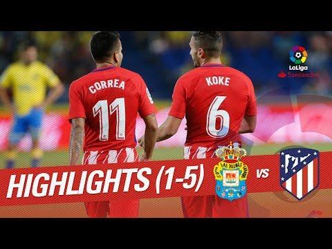 Resumen de UD Las Palmas vs Atlético de Madrid (1-5)