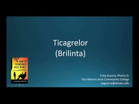 (CC) How to Pronounce ticagrelor (Brilinta) Backbuilding Pharmacology