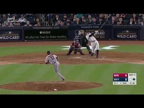 Aaron Judge 2-Run Homerun Vs Twins | Yankees Vs Twins Wild Card | HD