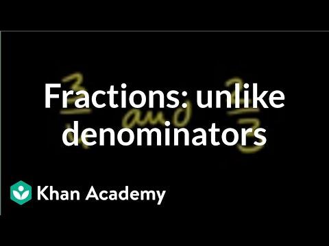 comparing fractions  unlike denominators video  khan academy