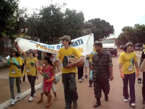Mutirão da Sucata em Glória D'Oeste, MT - Projeto Rondon