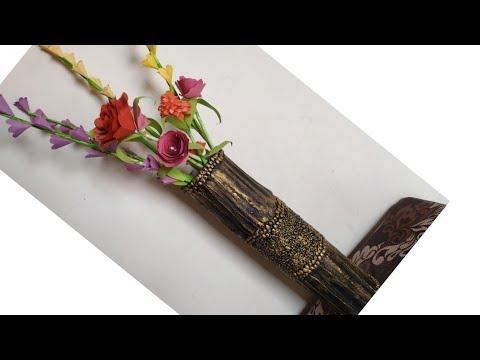 How To Make Flower Vase || DIY || Big Size Flower Vase || & Download How To Make Flower Vase From Cardboard Diy Flower Vase Wit ...