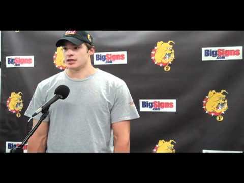 FSU Hockey Defensemen Zach Redmond - 3-2 Shootout win over Michigan 10/29/10
