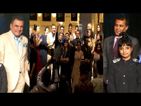 Boman Irani & Chetan Bhagat At The Launch Of 10th Edition Blenders Pride Fashion Tour