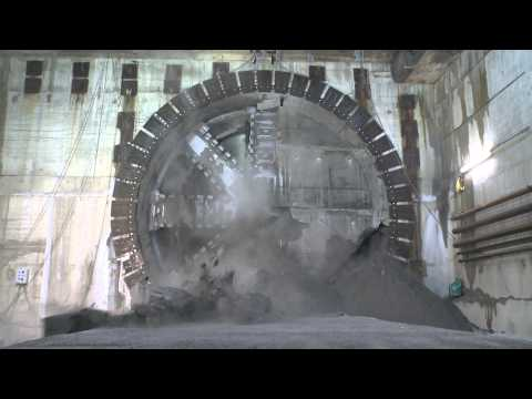 Flying through Crossrail's completed rail tunnels