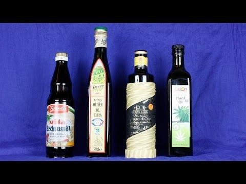 Olivenöl so gut wie sein Ruf? Info über Tropföl, Olivenöl, Hanföl, Rapsöl, Sonnenblumenöl, Erdnussöl