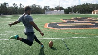 TRYING TO BREAK THE NFL'S LONGEST FIELD GOAL RECORD!