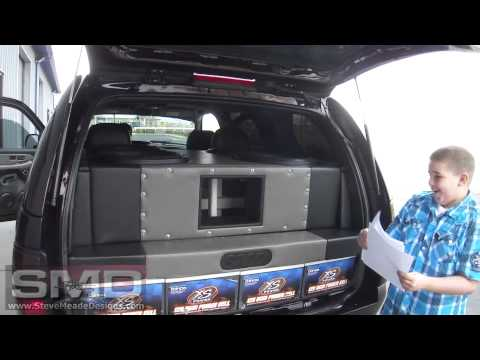 SubWoofers + Paper = Confetti -Chevy Tahoe 4 18's 30,000watts - Tremendous Bass 110 -