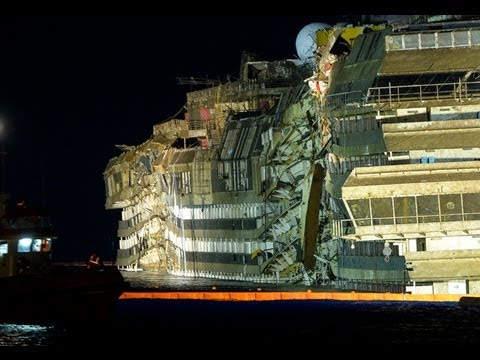 cruise ship Italy - The WRECK of Italy's Costa Concordia cruise ship begin to EMERGE from water A multinational crew has completed the salvage of the wrecked Italian cruise ship...