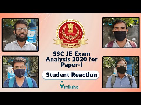 SSC JE Exam Analysis 2020 by Students; Check Difficulty Level & Expected Cutoff for Paper-I