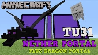 •️ MINECRAFT PS4: NETHER PORTAL TITLE UPDATE TU31. XBOX 360, PS3 & Wii U. (DRAGON PORTAL IDEA)