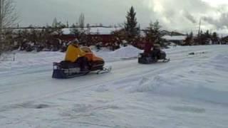 8. 1984 & 1986 Skidoo Skandic Snowmobiles