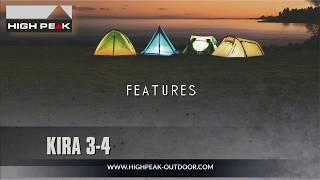 Комфортная палатка для путешествий с большим количеством снаряжения High Peak  Kira 3