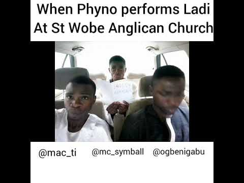 When Phyno performs Ladi @ St. Wobe Anglican Church, by Mc symbol and friends.