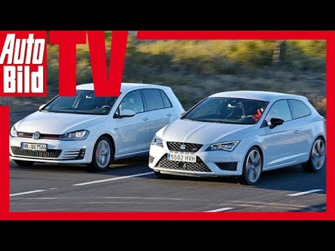 vw golf gti vs seat leon sc cupra