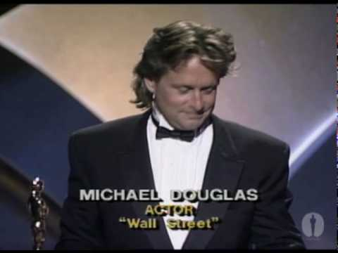 michael douglas - Marlee Matlin presenting Michael Douglas with the Best Actor Oscar® for his performance in